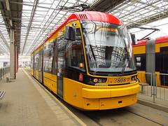 """PESA 134N """"Jazz"""", #3808, Tramwaje Warszawskie (transport131) Tags: jazz tram tw warszawa tramwaj pesa ztm 134n"""