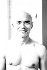 IMG_1456 (Zefrog) Tags: uk portrait bw man london pecs asian topless johann zefrog
