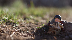 Down Time (Kyle Hardisty) Tags: world california lighting 2 two macro brick field grass rock canon kyle photography war rocks arms lego fig wwii lakes mini dirt ii mammoth custom twigs depth minifigure 2016 brickarms hardisty