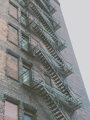 Up the stairs, into the sky (Simon Birky Hartmann) Tags: urban stairs architecturaldetail cleveland gritty structure fireescape cle vsco vscocam thisiscle simoncommutes simoncommutesapril2016