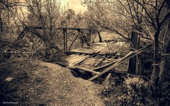 Bridge No More (Kool Cats Photography over 7 Million Views) Tags: old bridge blackandwhite texture abandoned oklahoma photography neglected textures relic fallingapart ef24105mmf4lisusm canoneos6d