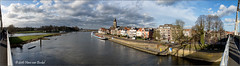 Deventer - 180 panorama (Hans van Bockel) Tags: city panorama photoshop nikon raw nef thenetherlands nik brug stad deventer ijssel architectuur locatie rivier nld binnenstad 1024mm d7200