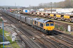 Eastleigh  66713 (davidhann34016) Tags: southampton gypsum eastleigh class66 66713 4y19
