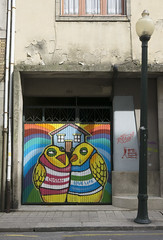 Cool street art in Porto, Portugal (jackie weisberg) Tags: art love portugal smart birds interesting eu porto lovebirds clever coolstreetart jackieweisberg