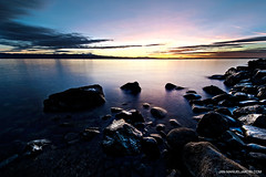 DSC_9590_HDR2 (Jan-Manuel Jakobi) Tags: sunset lake reflection water stones bodensee constance