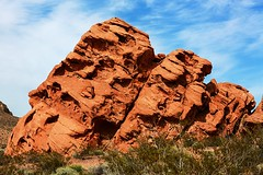 Stacked (wyojones) Tags: red sandstone nevada lakemead coloradoriver geology np ironoxide joints redstone crossbeds sedimentaryrock fractures nationalparksystem wyojones jointpattern lakemeadnationalrcreationarea
