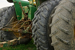Over Worked And Weather Checked (thetrick113) Tags: tractor farm machine worn agriculture jd hdr hudsonrivervalley farmequipment hudsonvalley farmmachinery johndeeretractor drawbar tractortires ulstercountynewyork threepointhitch sonyslta65v dueltires weatherchecked
