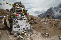 Everest memorial hill (D A Scott) Tags: nepal camp trek asia lakes glacier monastery khumbu everest base himalayas gokyo icefall tengboche