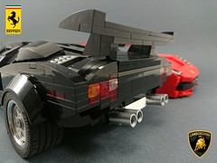 WIP(s) LEGO cars (Firas Abu-Jaber) Tags: lego ferrari lamborghini moc legomoc legoferrari classicsupercar legosupercar legolamborghinicountach 2016ferrari