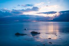 The Blues (jillyspoon) Tags: seascape canon reflections landscape evening blues monreith canon70d