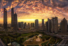 Magic Hour on the 1st day of New Year!!!(Lujiazui, Shanghai, China) (Davis_Xin) Tags: