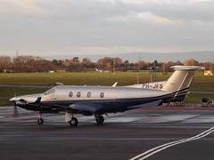 PH-JFS Pilatus PC-12 (Aircaft @ Gloucestershire Airport By James) Tags: james airport gloucestershire pilatus pc12 lloyds egbj phjfs