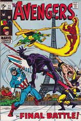 The Avengers 071 (micky the pixel) Tags: comics comic marvel eiffelturm captainamerica yellowjacket salbuscema submariner heft theavengers theflame thevision theblackpanther