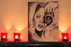L'oeil de la Photographe (jacqueschoeffel) Tags: light art canon painting photography eos 50mm candle drawing lumire dessin peinture toned intrieur bougie ef50mmf14usm 70d focalefixe