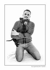 LUC_5498 copia (Spenny71) Tags: family portrait bw dog dogs cane friend famiglia bn friendly ritratti amicizia cani progetto spennacchio spenny71