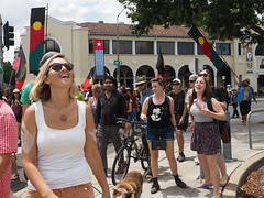 Invasion Day march and rally 2016-1260166.jpg (Leo in Canberra) Tags: march rally protest australia canberra australiaday act indigenous invasionday garemaplace 26january2016 aboriginalandtorresstraightislanders lestweforgetthefrontierwars endtheusalliance closepinegap