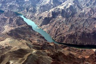 Aerial View - Colorado River near Las Vegas