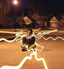Trails (Jordan Thompkins) Tags: winter light boy night canon dark photography model long exposure surrealism january suburbia week suburbs streaks sureal 52 2016