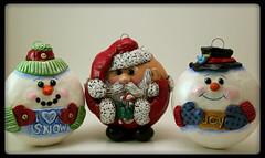 IMG_2297 (curly girl designs) Tags: santa christmas polymerclay snowmen christmasornaments polymerclayornament
