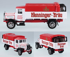 MBY-YGB-17-Henninger (adrianz toyz) Tags: matchbox yesteryear collectibles brewery beer mercedesbenz l5 1932 truck brauerei henninger frankfurt frankfurtammain ygb17 mercedes adrianztoyz