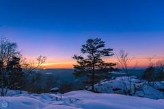 winter sundown (Dirk Hoffmann Fotografie) Tags: winter sunset sun snow germany landscape switzerland sundown saxony landschaft saxon