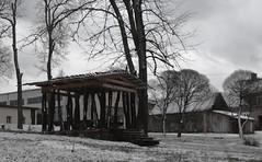 Little Parthenon (21st century) (Sunofmarch) Tags: wood trees landscape design d5100