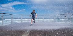 Run (F_Eglesfield) Tags: beach water wave spray nz dunedin
