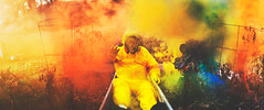 aerial toxines (Carlos Castaeda') Tags: blue red plants green toxic colors yellow composition photoshop fire death rainbow colorful earth smoke air breath suit explore dirt human dying burned edit hazmat breathing expansion fineartphotography darkart husbear smokebombs hazmatsuit toxine