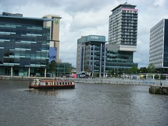 Media City Salford Lancashire England (rossendale2016) Tags: new city film water television modern radio buildings shopping one for boat canal fantastic dock media apartments sale bat lancashire stop cameras bbc shops programs salford filming barge built offices cameramen englandquays