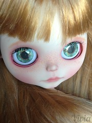 Blythe custom #79 ( vivia custom dolls and accessories ) Tags: doll sweet lips chips blythe custom eyelids eyechips