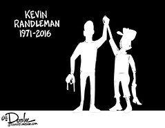 0216 kevin randleman mem cartoon (DSL art and photos) Tags: monster wrestling osu tribute obituary ohiostate editorialcartoon sandusky donlee kevinrandleman