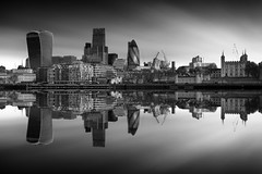 Shockwave (vulture labs) Tags: longexposure reflection london art water thames architecture clouds skyscraper river photography mono fineart workshop fineartphotography londonskyline ndfilter firecrest vulturelabs