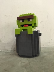 LEGO Oscar the Grouch Chibi (kevmementomori08) Tags: oscar lego chibi sesamestreet trashcan oscarthegrouch moc legomoc legochibi