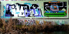 graffiti amsterdam (wojofoto) Tags: holland amsterdam graffiti nederland netherland dotsy wolfgangjosten bwak wojofoto omatiks