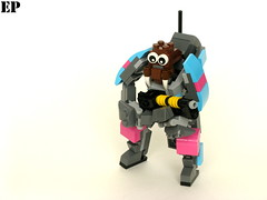 Happy Walrus (With Colorful Mechsuit) (ExclusivelyPlastic) Tags: robot lego walrus mech idk hardsuit