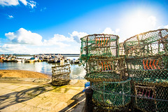 Crab Pots (Clandy // Snaps) Tags: landscape boats harbour quay daytime practice poole earlyevening clandysnaps
