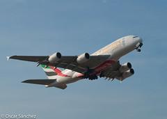 A380 departing from BCN (Oscar Sánchez Photo) Tags: bcn airbus a380 departing lebl