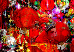 The Year Of The Monkey (brillianthues) Tags: new collage photoshop photography colorful chinese lanterns topaz yeat photmanuplation