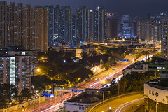 Kowloon Bay, Hong Kong (mikemikecat) Tags: nightscape sony cityscapes lighttrails nightview     carlzeiss kowloonbay choihung  a7r    mikemikecat