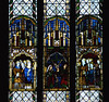 """Worfield, Shropshire, """"St. Peter's"""", St. Nicholas's chapel, stained glass window (groenling) Tags: uk greatbritain england stpeters window glass saint john king shropshire britain mary jesus stainedglass gb bishop crucifixion richardii salop worfield scrope"""
