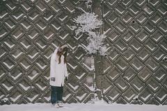 (another side view) Tags: portrait woman plants snow plant nature female naturepeople womanportrait