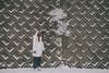 コンクリートのあいだに (another side view) Tags: portrait woman plants snow plant nature female naturepeople womanportrait