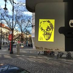 Berlin (PSYCO ZRCS 10/12) Tags: street berlin art graffiti sticker stickerart neon stickers slap tagging psyco bombing slaps stickerculture stickerporn stickerlife ostfug