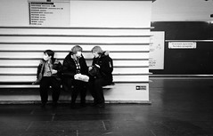 Metro Mania (EyeC4ndy) Tags: street bw white black film st analog photography 50mm russia 4 8 petersburg 400 pan jupiter kiev ilford