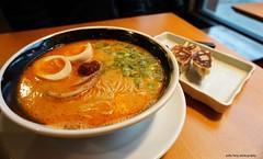Spicy Ramen at Ramen Danbo (deeeelish) Tags: egg ramen noodles gyoza broth charsiu dymplings