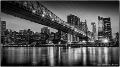 Manhattan from Roosevelt Island at sunset. (DrAnthony88) Tags: sunset usa newyork us unitedstates manhattan eastriver eastside newyorkatnight 59thstbridge queensboroughbridge nikond700 silverefexpro2 lightsagainstthesky nikkor24120f4gafsvrii