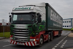 Stobart H194 PO14 VHT Mary Jean at Appleton 25/2/16 (CraigPatrick24) Tags: road truck cab transport lorry delivery vehicle trailer scania logistics appleton maryjean stobart eddiestobart curtainsider stobartgroup scaniar440 h194 po14vht stobartcurtainsider