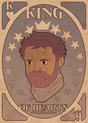 Art Nouveau Playing Card (Front) (Graphic Design | Illustration) Tags: illustration design graphicdesign artnouveau poker fullsail playingcard alphonsemucha kingofhearts artmovement