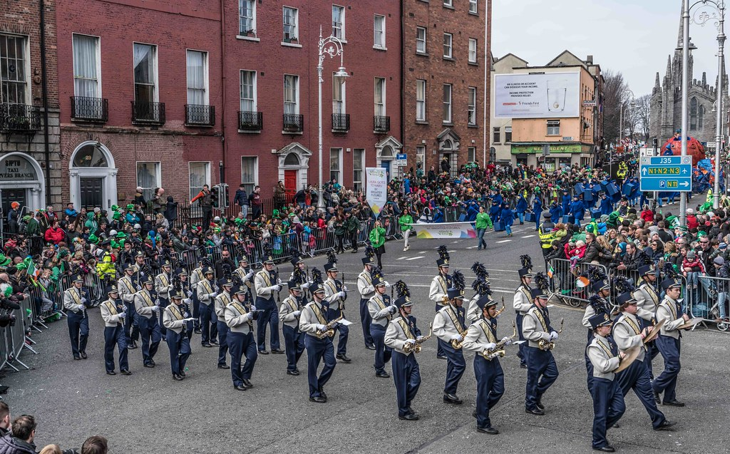 Cathedral High School 'Pride of the Irish' Marching Band [St. Patrick's Day Parade 2016]-112657