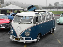 VW BUS (lalo0262) Tags: show art car la high low walnut rider carshow scholl 2016